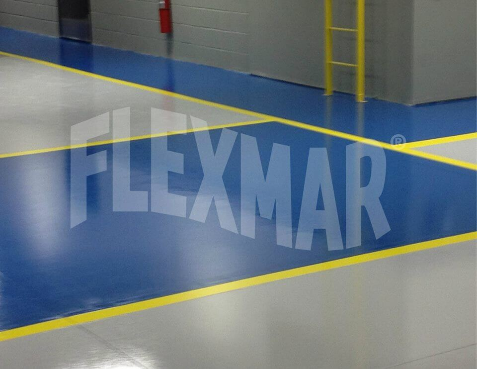 collision center solid color polyaspartic flooring