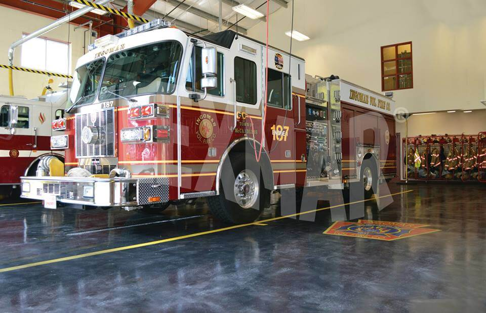 Ingomar Volunteer Fire Company Variegate Stain-Sealer Application