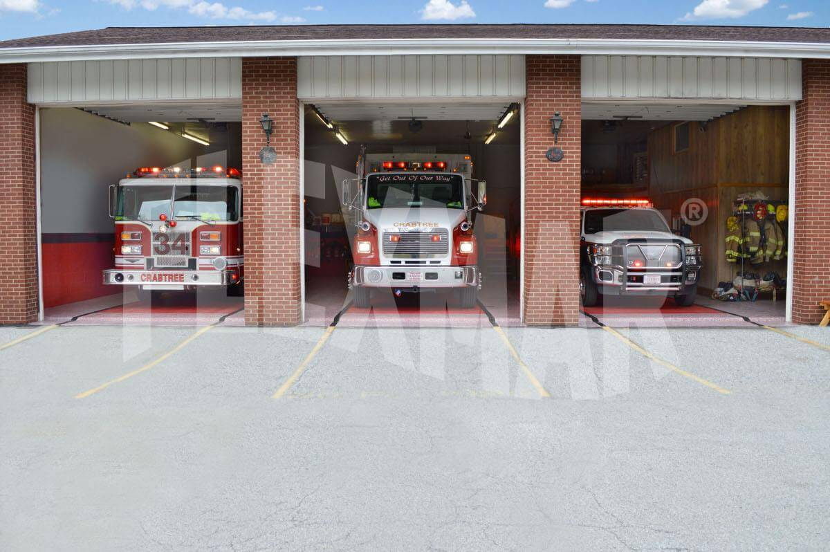 Crabtree VFD fire engines