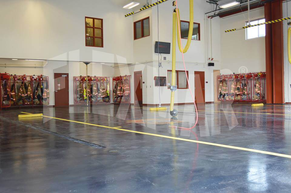 Ingomar Volunteer Fire Co. flooring