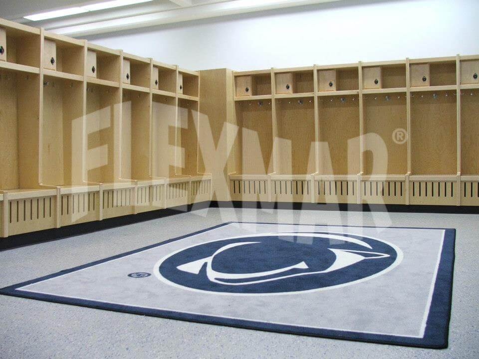 penn state locker room polyaspartic flooring