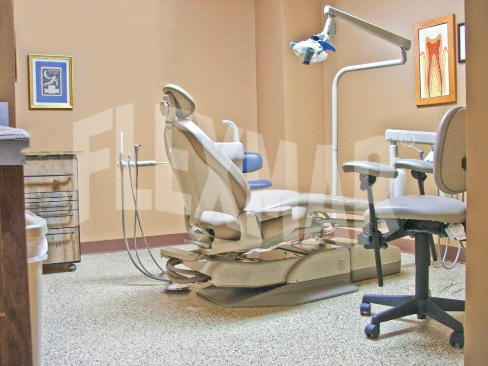 dental office polyaspartic flooring