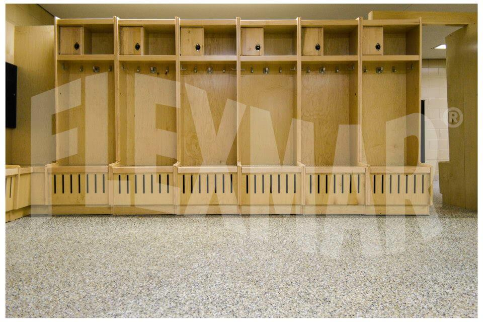 Penn State Athletic Center locker room