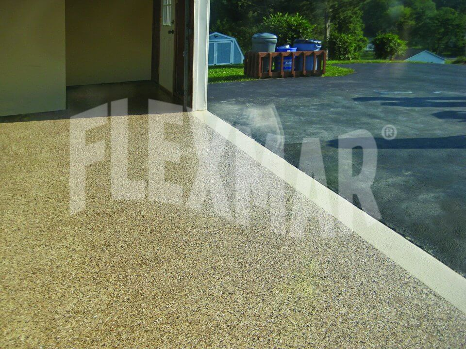 Color Flake Polyaspartic flooring