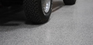 close up garage flooring