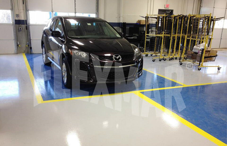 collision center solid color coating system