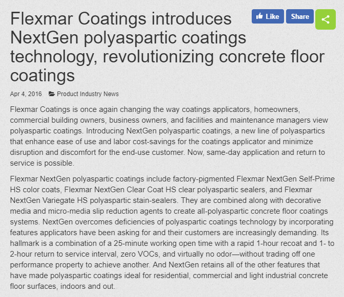 Concrete Decor Flexmar article screenshot