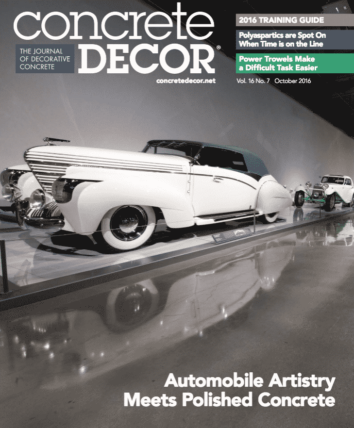 Concrete Decor Cover October 2016