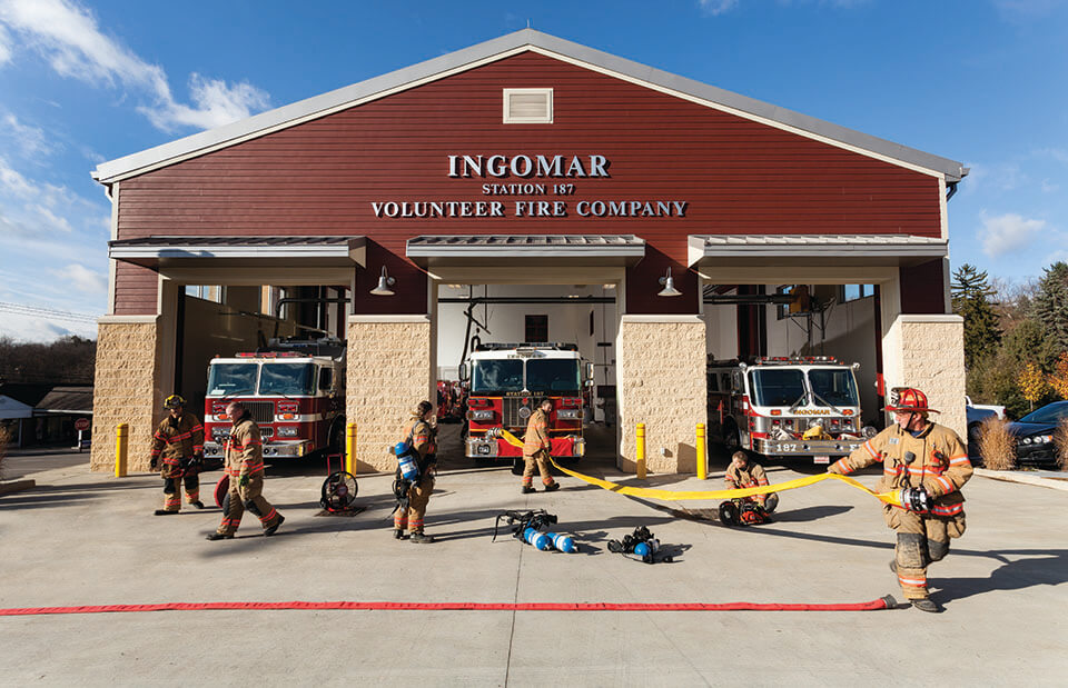 Flexmar flooring ingomar firehouse