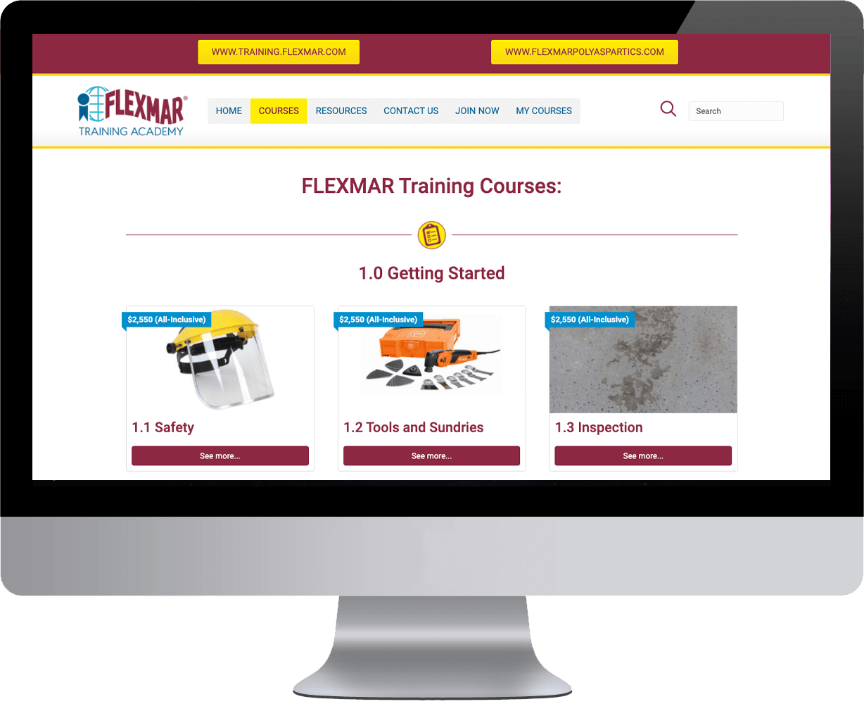 Training Courses Website